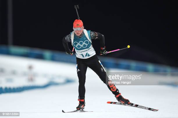 Franziska Hildebrand of Germany competes during the Women's Biathlon 75km Sprint on day one of the PyeongChang 2018 Winter Olympic Games at Alpensia...