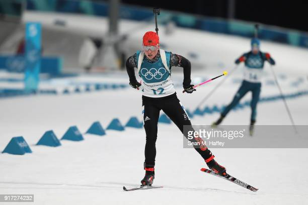 Franziska Hildebrand of Germany competes during the Women's Biathlon 10km Pursuit on day three of the PyeongChang 2018 Winter Olympic Games at...