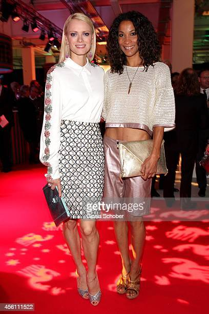 Franziska Knuppe and Annabelle Mandeng arrives at Tribute To Bambi 2014 at Station on September 25 2014 in Berlin Germany