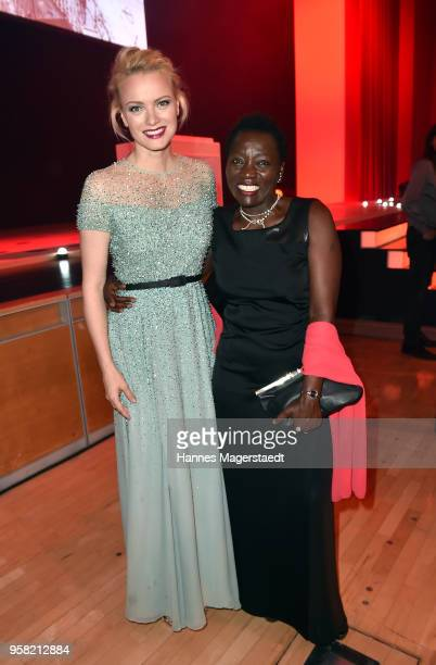 Franziska Knuppe and Auma Obama during the GreenTec Awards at ICM Munich on May 13 2018 in Munich Germany