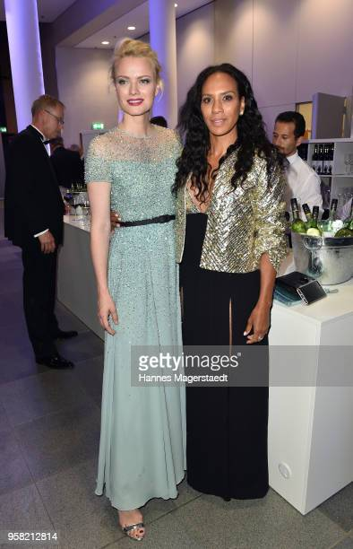 Franziska Knuppe and Barbara Becker during the GreenTec Awards at ICM Munich on May 13 2018 in Munich Germany