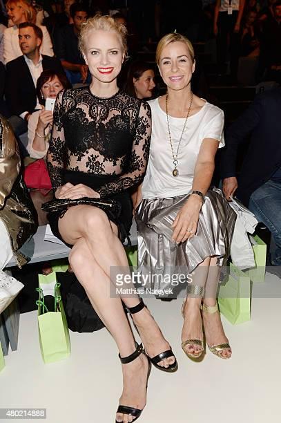 Franziska Knuppe and Bettina Cramer attends the Ewa Herzog show during the MercedesBenz Fashion Week Berlin Spring/Summer 2016 at Brandenburg Gate on...