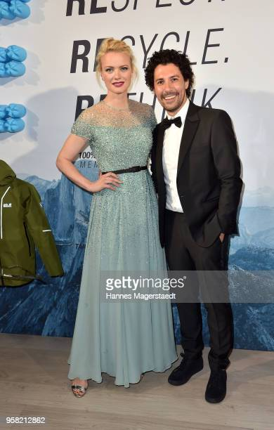 Franziska Knuppe and Boris Entrup during the GreenTec Awards at ICM Munich on May 13 2018 in Munich Germany