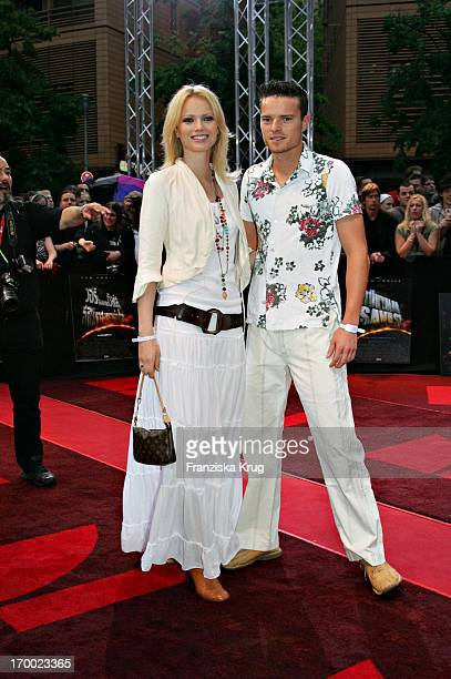 """Franziska Knuppe And brother Christian at The """"War of the Worlds"""" European premiere in the theater at Potsdamer Platz in Berlin 140605."""