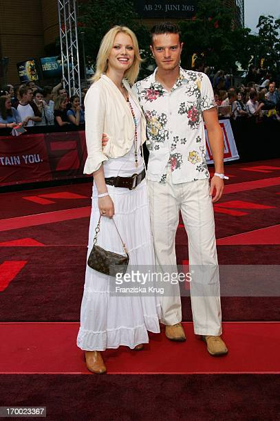 Franziska Knuppe And brother Christian at The War of the Worlds European premiere in the theater at Potsdamer Platz in Berlin 140605