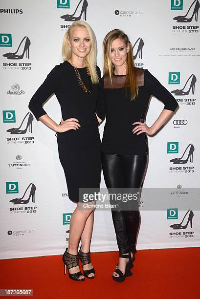 Franziska Knuppe and Charlott Cordes attend the Deichmann Shoe Step of the Year 2013 at Curio Haus on November 7 2013 in Hamburg Germany