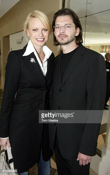 Franziska Knuppe and Christian KnuppeMoestl attend the Innocence in Danger charity brunch at the Adlon hotel on September 22 2004 in Berlin Germany