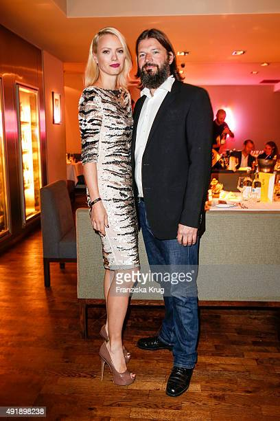 Franziska Knuppe and Christian Moestl attend the 5th anniversary celebrations of the GRAZIA magazine at Grill Royal on October 08, 2015 in Berlin,...