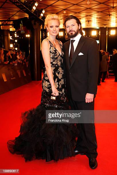 Franziska Knuppe and Christian Moestl attend the 'BAMBI Awards 2012' at the Stadthalle Duesseldorf on November 22 2012 in Duesseldorf Germany