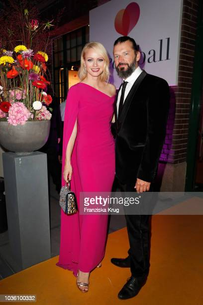 Franziska Knuppe and Christian Moestl attend the Dreamball 2018 at WECC Westhafen Event Convention Center on September 19 2018 in Berlin Germany