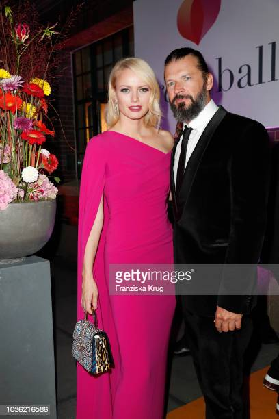Franziska Knuppe and Christian Moestl attend the Dreamball 2018 at WECC Westhafen Event & Convention Center on September 19, 2018 in Berlin, Germany.