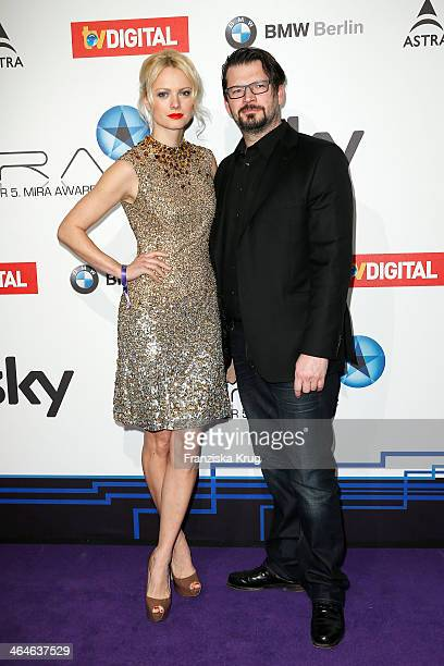 Franziska Knuppe and Christian Moestl attend the Mira Award 2014 on January 23 2014 in Berlin Germany
