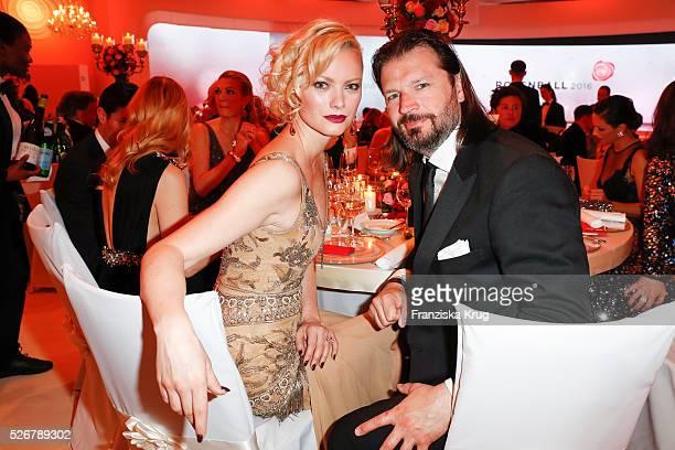 Franziska Knuppe and Christian Moestl attend the Rosenball 2016 on April 30 in Berlin, Germany.