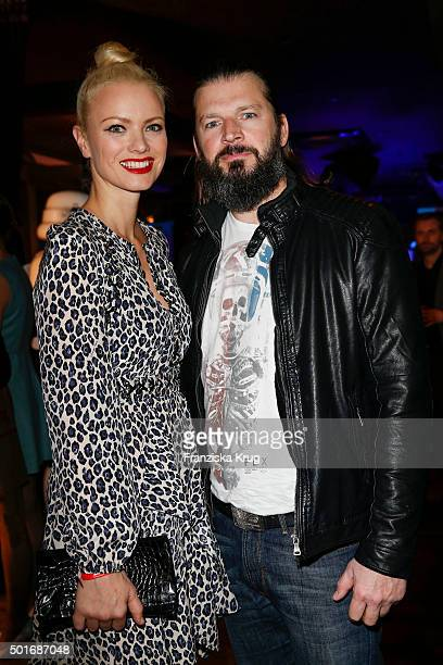 Franziska Knuppe and Christian Moestl attend the Star Wars The Force Awakens' after premiere party on December 16 2015 in Berlin Germany