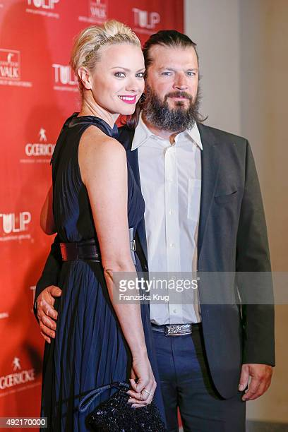 Franziska Knuppe and Christian Moestl attend the TULIP Gala 2015 on October 10 2015 in Berlin Germany