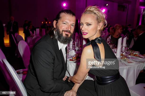 Franziska Knuppe and Christian Moestl attend the TULIP Gala 2015 on October 10, 2015 in Berlin, Germany.
