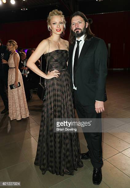 Franziska Knuppe and Christian Moestl attend the TULIP Gala 2016 at Metropolis Halle on November 5 2016 in Potsdam Germany