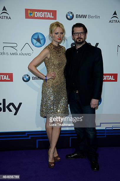 Franziska Knuppe and Christian Moestl attends the Mira Award 2014 at Station on January 23 2014 in Berlin Germany