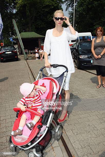 Franziska Knuppe And Daughter Mathilda at 'BMW Sailing Cup' at the Wannsee in Berlin