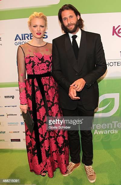 Franziska Knuppe and David Mayer de Rothschild attend the GreenTec Awards 2014 at ICM Munich on May 4 2014 in Munich Germany