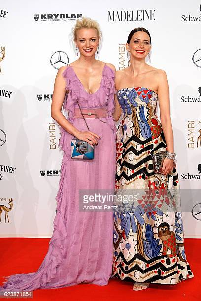 Franziska Knuppe and Eva Padberg arrive at the Bambi Awards 2016 at Stage Theater on November 17 2016 in Berlin Germany