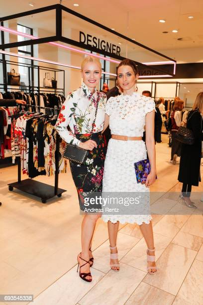 Franziska Knuppe and Eva Padberg attend the preopening party 'Saks OFF 5TH' at Carsch Haus on June 7 2017 in Duesseldorf Germany