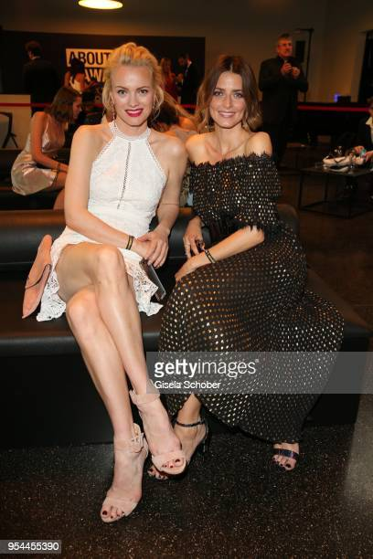 Franziska Knuppe and Eva Padberg during the 2nd ABOUT YOU Awards 2018 at Bavaria Studios on May 3 2018 in Munich Germany
