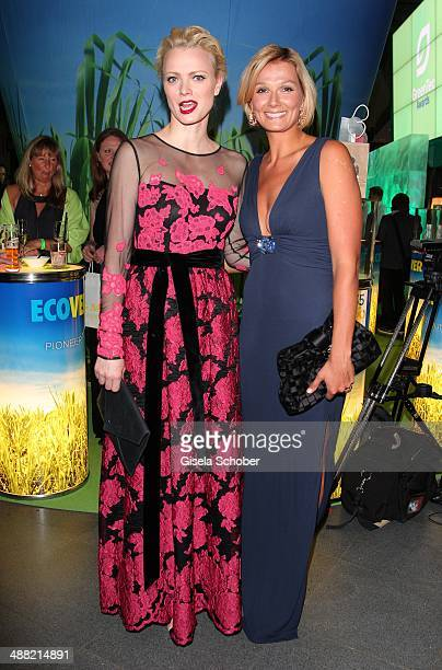 Franziska Knuppe and Franziska van Almsick attend the GreenTec Awards 2014 at ICM Munich on May 4 2014 in Munich Germany