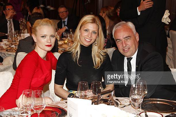 Franziska Knuppe and Hans Reiner Schroeder with his wife Katerina at the 10th Anniversary Of The Felix Burda Award at Hotel Adlon in Berlin