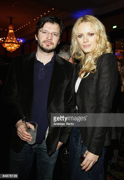 Franziska Knuppe and her husband Christian Moestl attend the 'Movie Meets Media' as part of the 59th Berlin Film Festival at the Ritz Carlton Hotel...