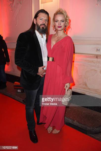Franziska Knuppe and her husband Christian MoestlKnuppe during the after show party of the 'Ein Herz Fuer Kinder Gala 2018' on December 8 2018 in...
