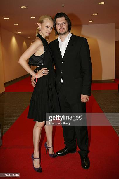 Franziska Knuppe And Husband Christian Moestl at BILD summer festival at Axel Springer publishing house in Berlin