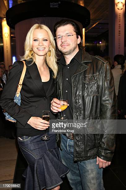 Franziska Knuppe And Husband Christian Moestl at The Montblanc exhibition Soul Makers For 100 Years In KaDeWe in Berlin 120406