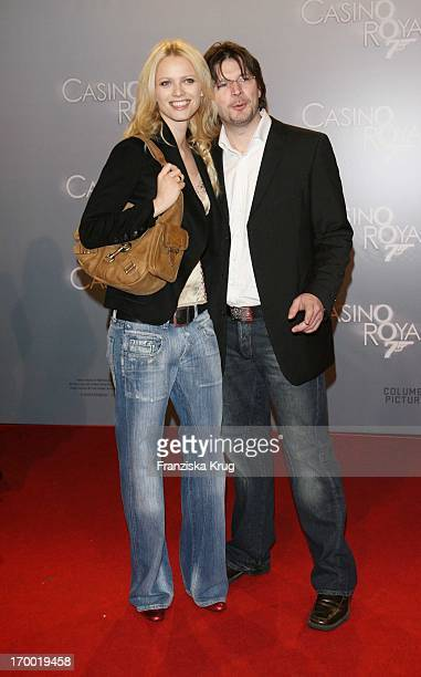 Franziska Knuppe And Husband Christian Moestl In Germany at Premiere Of Casino Royale in Cinestar Potsdamer Platz Berlin