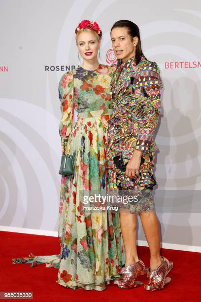 Franziska Knuppe and Jorge Gonzalez attend the Rosenball charity event at Hotel Intercontinental on May 5 2018 in Berlin Germany