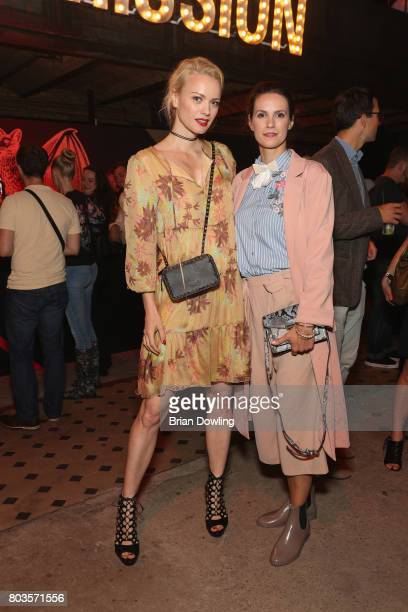 Franziska Knuppe and Katrin Wrobel attend Bacardi X The Dean Collection Present No Commission Berlin on June 29 2017 in Berlin Germany