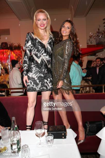 Franziska Knuppe and Laura Wontorra during the PLACE TO B Berlinale party of BILD at Borchardt Restaurant on February 9 2019 in Berlin Germany