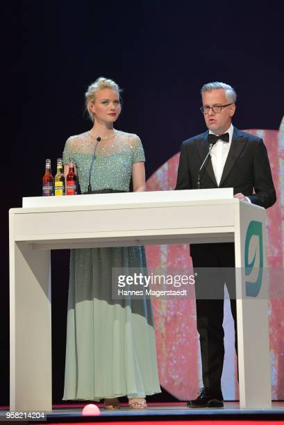Franziska Knuppe and Matthias Harms during the GreenTec Awards at ICM Munich on May 13 2018 in Munich Germany