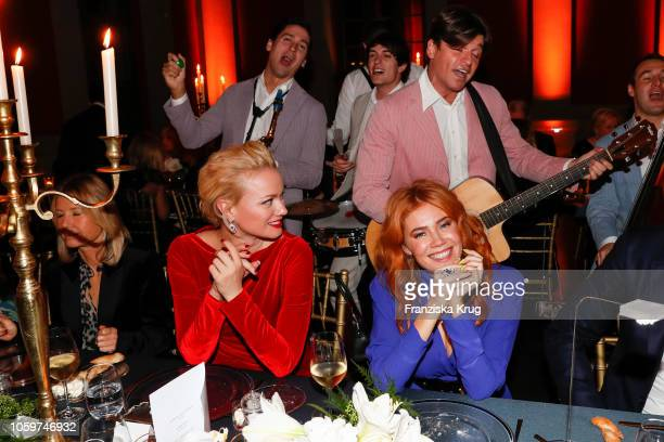 Franziska Knuppe and Palina Rojinski during the Chopard Night of Green Emotions on November 9 2018 in Berlin Germany
