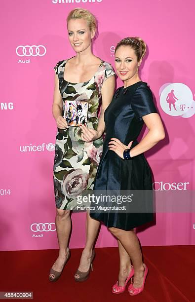 Franziska Knuppe and Ruth Moschner attend the 'CLOSER Magazin Hosts SMILE Award 2014' at Hotel Vier Jahreszeiten on November 4 2014 in Munich Germany