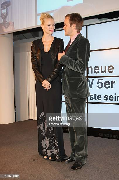 Franziska Knuppe And Thimon von Berlepsch In The Germany Premiere Of BMW 5 Series Gran Turismo in Berlin
