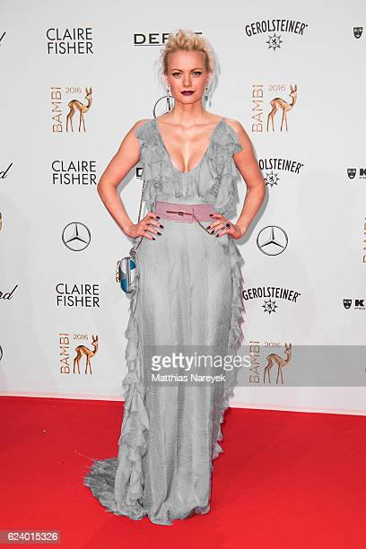 Franziska Knuppe arrives at the Bambi Awards 2016 at Stage Theater on November 17 2016 in Berlin Germany