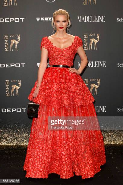 Franziska Knuppe arrives at the Bambi Awards 2017 at Stage Theater on November 16 2017 in Berlin Germany