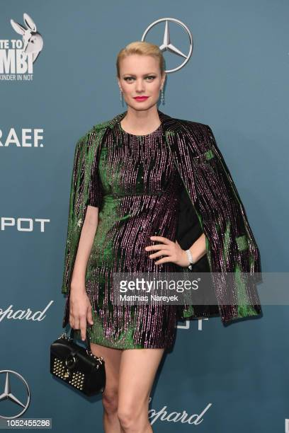Franziska Knuppe arrives for the Tribute To Bambi at Kraftwerk Mitte on October 18 2018 in Berlin Germany