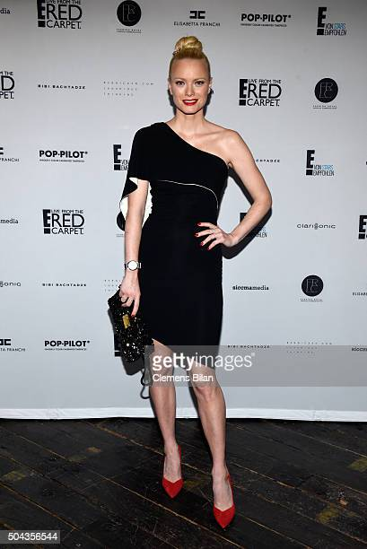 Franziska Knuppe attends E Red Carpet Influencer Suite promoting Live from the Red Carpet on german E Entertainment at Soho House on January 10 2016...