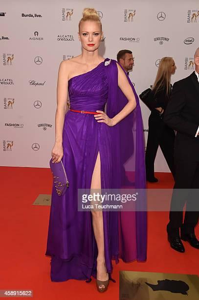 Franziska Knuppe attends Kryolan at the Bambi Awards 2014 on November 13 2014 in Berlin Germany