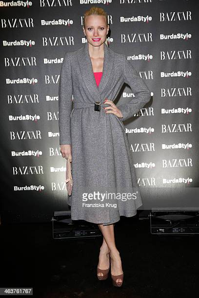 Franziska Knuppe attends the Burda Style Cocktail on January 16, 2014 in Berlin, Germany.