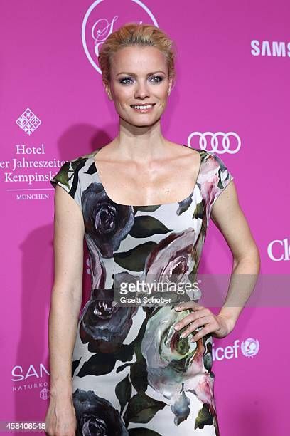 Franziska Knuppe attends the CLOSER Magazin Hosts SMILE Award 2014 at Hotel Vier Jahreszeiten on November 4 2014 in Munich Germany
