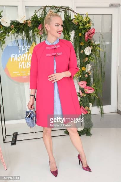 Franziska Knuppe attends The Fashion Hub during the Berlin Fashion Week Spring/Summer 2019 at Ellington Hotel on July 5 2018 in Berlin Germany