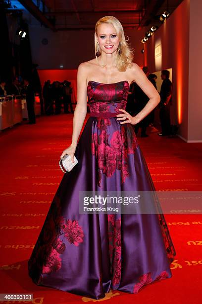 Franziska Knuppe attends the Goldene Kamera 2014 at Tempelhof Airport on February 01 2014 in Berlin Germany